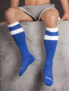 Barcode Berlin, Football Socks, blau/weiß, sexy, SALE