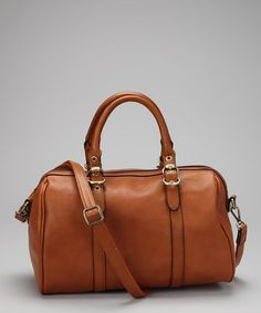 $37 Cognac Weekender by David Jones on #zulily 20 June, could double as a diaper bag