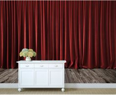 wall MURAL wallpaper theater curtain theater by 4KdesignWall