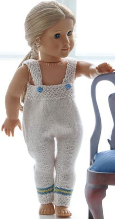 Knitted doll clothes for 18 inch doll - A light, simple and very nice outfit for the doll Baby Born, Knitted Dolls, 18 Inch Doll, American Girl, Baby Dolls, Doll Clothes, Knitting Patterns, Cool Outfits, Costumes