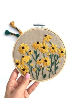 Excited to share this item from my shop: PDF DIGITAL Pattern Wild Daisies DIY - Thread Unraveled - Beginner Embroidery Pattern Floral Embroidery Patterns, Learn Embroidery, Hand Embroidery Stitches, Embroidery For Beginners, Embroidery Hoop Art, Hand Embroidery Designs, Crewel Embroidery, Machine Embroidery, Modern Embroidery