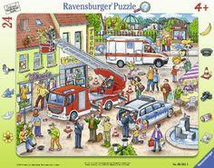 Ravensburger framework puzzles: 110, 112-Hurry!  24 parts