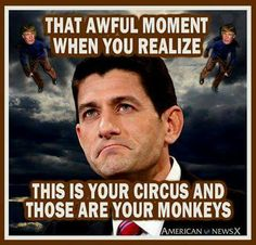 "~~~~~ King of the Apes ~~~~~The ""game is up"" - the masses are finally realising exactly what has been ""going on""!  Dirty, mindless, corrupt tactics bankrolled by scoundrels who had the Republicans ""dancing to their every whim""!  Choke on your excesses & thanks for setting the stage for the revolution to come!"