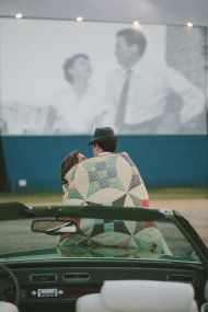 Houston Drive In Engagement Session from Katie Lamb Photography - Style Me Pretty