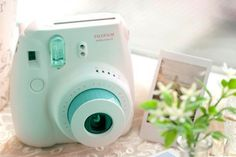 I have one just like this and I am loving it so much. Instax 8, Instax Mini 8 Camera, Fujifilm Instax Mini 8, Fuji Camera, Polaroid Pictures, Camera Photography, Digital Camera, Giveaway, Polaroid Cameras