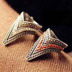 Discount China china wholesale Pointed Tapered Punk Style Diamond Inlaid Retro Ring 6477 [6477] - US$1.49 : Bluelans