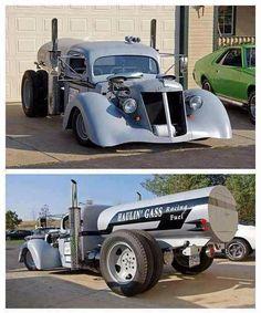 rat rod fuel truck...UMMMMMM...DOUBLE YESSSSSS  Reposted by paintnpanel.com...SWEET..