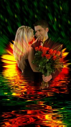 Beautiful Night Images, Lovely Good Morning Images, Beautiful Love Pictures, Romantic Pictures, Good Night Image, Beautiful Fairies, Beautiful Dream, Beautiful Roses, Love You Gif
