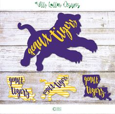 LSU SVG | Geaux Tigers | LSU Tigers | Louisiana State University | Cutting Files for Silhouette, Cricut and Other Die Cut Machines