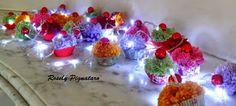 tule         Com cupcakes para decorar árvores de natal ou mesas de festas infantis  com 25 cupcakes em cada cordão...