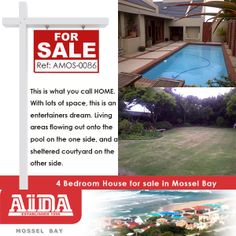 This family home offers 4 bedrooms, all en-suite, with big living areas that walks out onto the patio next to the bar, braai area and pool. Big modern kitchen with granite tops. Walking distance to the schools. WEB REF: Granite Tops, 4 Bedroom House, Walk Out, The Other Side, One Sided, Living Area, Home And Family, Patio, Entertaining