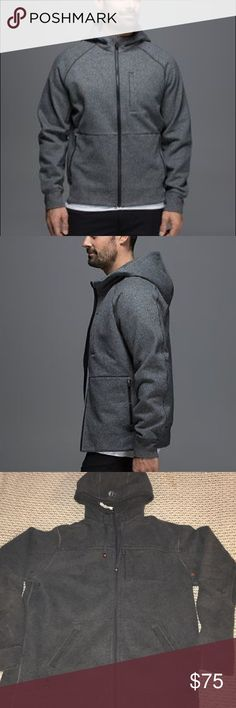 HOST PICKLululemon Men's hoodie Mens Lululemon Hoodie Sixe XXL excellent condition the first picture is the closest I cans find to the one I have. They're very similar besides the pockets, Len me know if you have any questions lululemon athletica Jackets & Coats