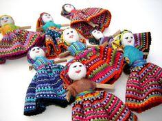Guatemalan Bailarina Worry Dolls #worry_dolls #guatemalan_dolls