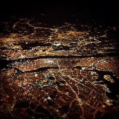 NYC as seen from 37,000 feet.