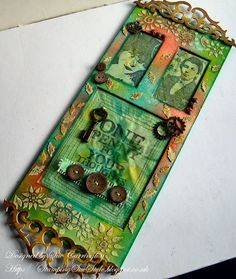 by Sue Carrington ~ images are stamped on cloth painted with PaperArtsy Fresco paints.