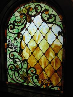 BEAUTIFUL STAINED GLASS AT WINCHEST MYSTERY HOUSE