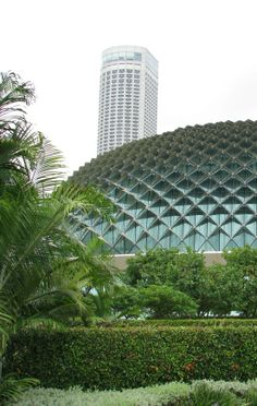 """Singapore's architecturally inspiring centre for performing arts is nicknamed """"The Durian"""", thanks to the spikes that cover its domes and make them look like the prickly Durian fruit"""