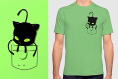 Plagg kwami Miraculous Ladybug pocket tee sold here: www.redbubble.com/people/slothgirlart and www.society6.com/slothgirlart Carry your own kwami in your shirt pocket XD