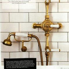 Barber Wilsons Polished Brass Shower