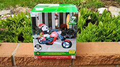 Peanuts Snoopy & Woodstock on Chopper Motorcycle Christmas Airblown Inflatable bought in 2012