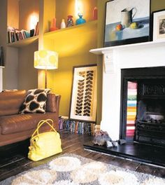Orla Kiely's house - love the tiles and print