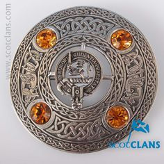 Young Clan Crest Plaid Brooch. Free worldwide shipping available