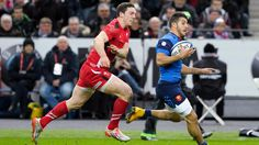 Sofiane Guitoune dépose George North France Pays de Galles 2015