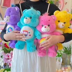 Care Bears, Rainbow Aesthetic, Cute Stuffed Animals, Cute Plush, Indie Kids, Little Pony, Plushies, Aesthetic Pictures, Childhood Memories