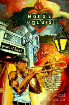 New Orleans House Of Blues Painting   ...by Diane Millsap