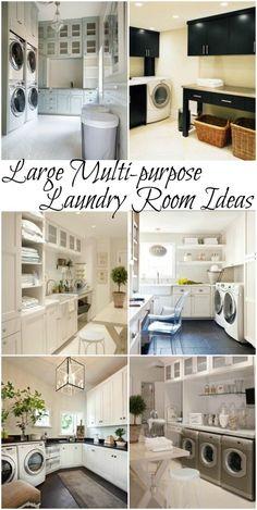 Large multi-purpose laundry room ideas #laundry #design #home @remodelaholic