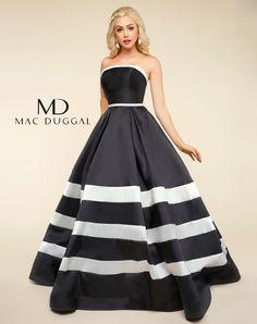 Multi Strapless Satin Gown