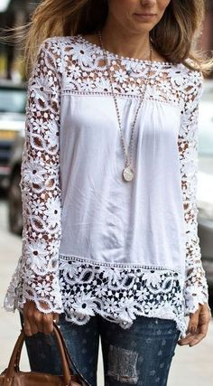 Charming CutOut Lace Top