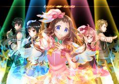 Anime Wallpaper of Hiroomi Nase, Mitsuki Nase, Shindou Ai, Kuriyama Mirai, and Akihito Kanbara from Beyond the Boundary/Kyoukai no Kanata