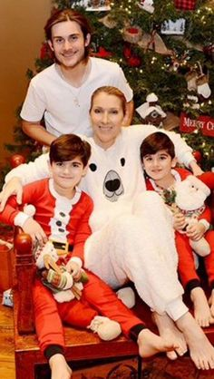 Celine with her sons