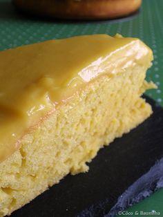 bolo de laranja com curd de laranja