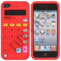 Calculator (Rød) iPod Touch 5 Cover
