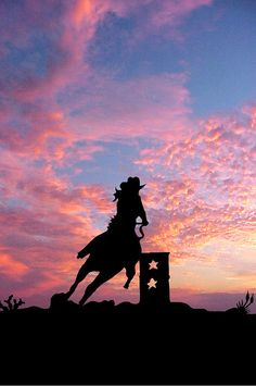 Barrel racer at sunset with star barrel racing Barrel Racer by Robert Anschutz Foto Cowgirl, Cowgirl And Horse, Horse Love, Horse Riding, Barrel Race, Barrel Racing Horses, Barrel Horse, Barrel Racing Quotes, Cavalo Wallpaper