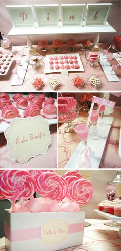 Cammi Lee Events: Save the Ta-Ta's - Pink Dessert Table