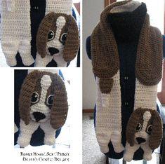 Basset Hound Scarf Crochet Pattern