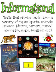 Reading Genres: nice posters for kids. Reading Genre Posters, Reading Genres, Halloween Costumes Women Scary, Library Organization, Readers Workshop, Elementary Teacher, Anchor Charts, Critical Thinking, Nonfiction