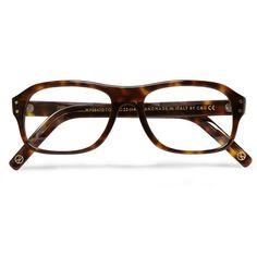 KingsmanCutler and Gross Tortoiseshell Acetate Square-Frame Optical Glasses
