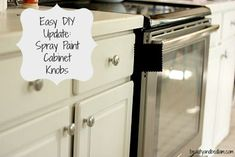 $5 Kitchen Update: Spray Painting Cabinet Knobs: