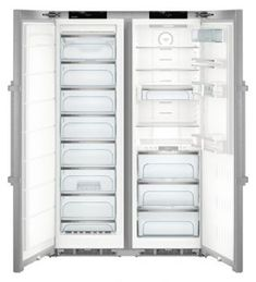Liebherr SBSes 8773 Side-by-Side Kombination mit BioFresh und NoFrost Conservation, Storage Center, Side By Side Refrigerator, Door Shelves, Energy Efficiency, Aluminium, Food Storage, Bathroom Medicine Cabinet, Household