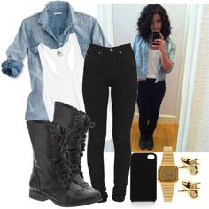 A fashion look from December 2012 featuring Victoria's Secret tops, Dr. Denim jeans and Steve Madden ankle booties. Browse and shop related looks.