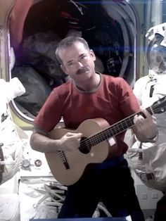 Chris Hadfield, the Canadian astronaut who has documented his journey in outer space with educational YouTube videos and Reddit AMAs.