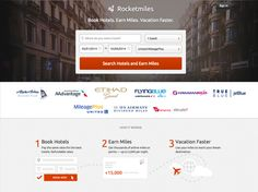 rocket miles - hotel bookings earn flight miles