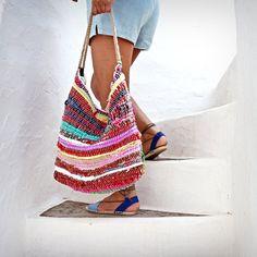 $59 Hobo Kilim Shoulder Bag. Bright Colors. Large Boho Beach Bag. Boho Tote Rag Rug Bag. Colorful Kourelou Bag. Hippie Bag. Womens Gift