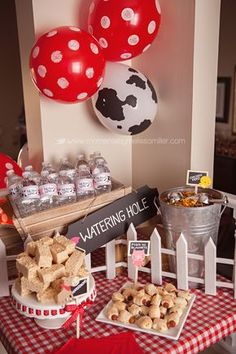 Farm Theme Birthday Party Lots of good ideas! Cowboy Birthday Party, Farm Animal Birthday, Cowboy Party, Farm Birthday, 3rd Birthday Parties, Petting Zoo Birthday Party, Birthday Ideas, Girl Birthday Party Themes, Birthday Supplies