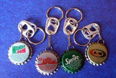 key rings from bottle caps