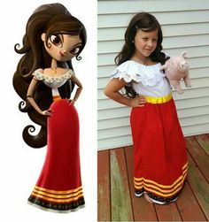 Maria Posada Book of Life Costume. Have to have the piggy. Family Halloween Costumes, Cute Costumes, Halloween Dress, Cute Halloween, Halloween Cosplay, Halloween Costumes For Kids, Halloween Themes, Homemade Halloween, Halloween 2018